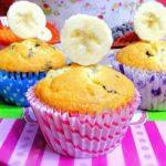 muffin banane e gocce di cioccolato