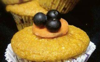 muffin carote e mirtilli