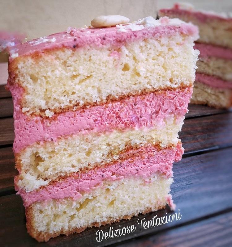 naked cake mandorla e lamponi (3)