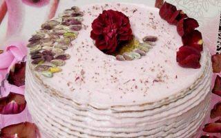 chiffon pistacchio e acqua di rose