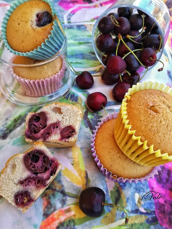Muffin alle Ciliegie con farina di riso