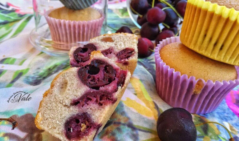 Muffin alle Ciliegie senza glutine