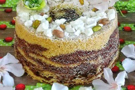 chiffon marmorizzata al pistacchio