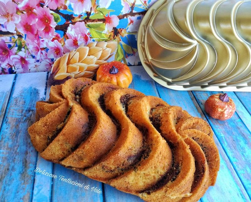 plumcake marmorizzato zucca e cacao