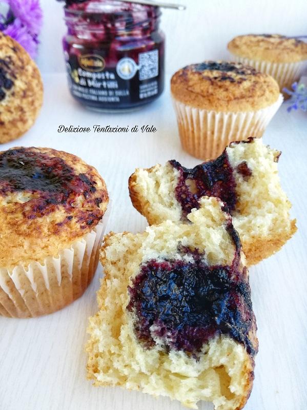 muffin con composta di mirtilli (3)