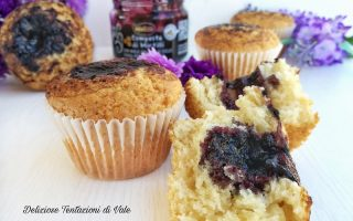 muffin con composta di mirtilli