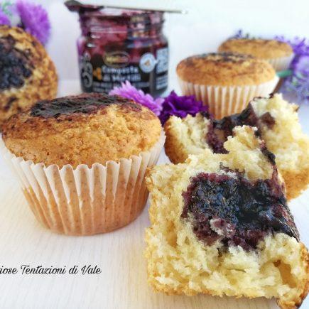 muffin con composta di mirtilli