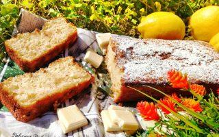 plumcake limone, mandorle e cioccolato bianco