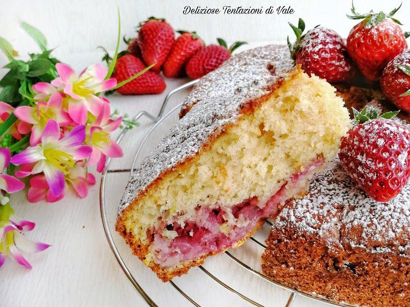 torta sofficissima con le fragole