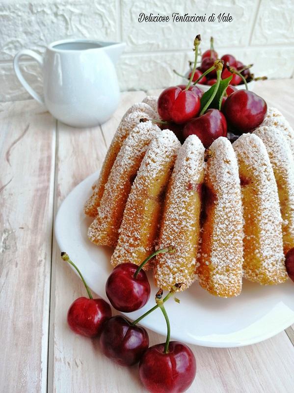 ciambella alla panna montata e ciliegie (2)