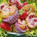 muffin cocco e fragole