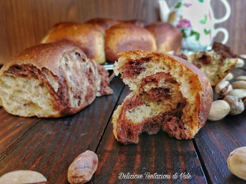 brioche marmorizzate pistacchio e cacao