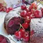 ciambella sofficissima ciliegie e cacao (2)