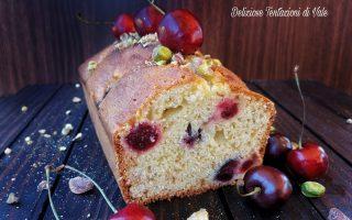 plumcake ciliegie e pistacchi