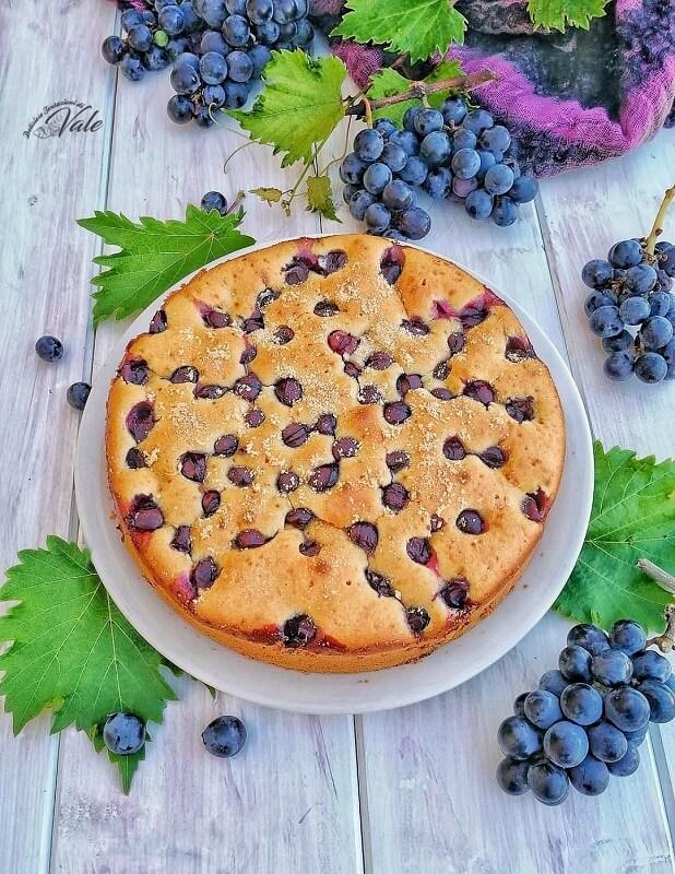 Torta Soffice con Uva Fragola (senza burro)