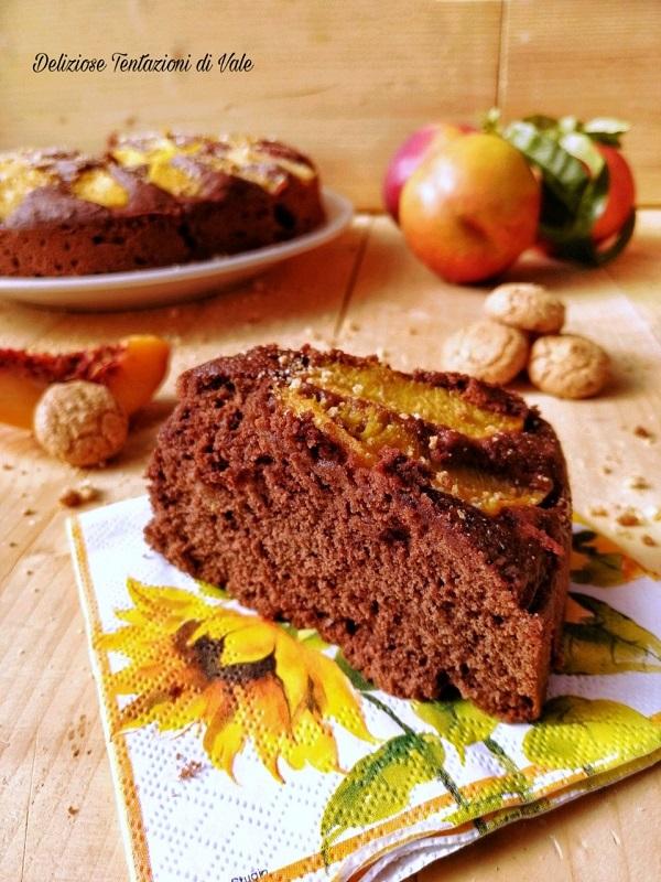 torta al cioccolato con pesche e amaretti (2)