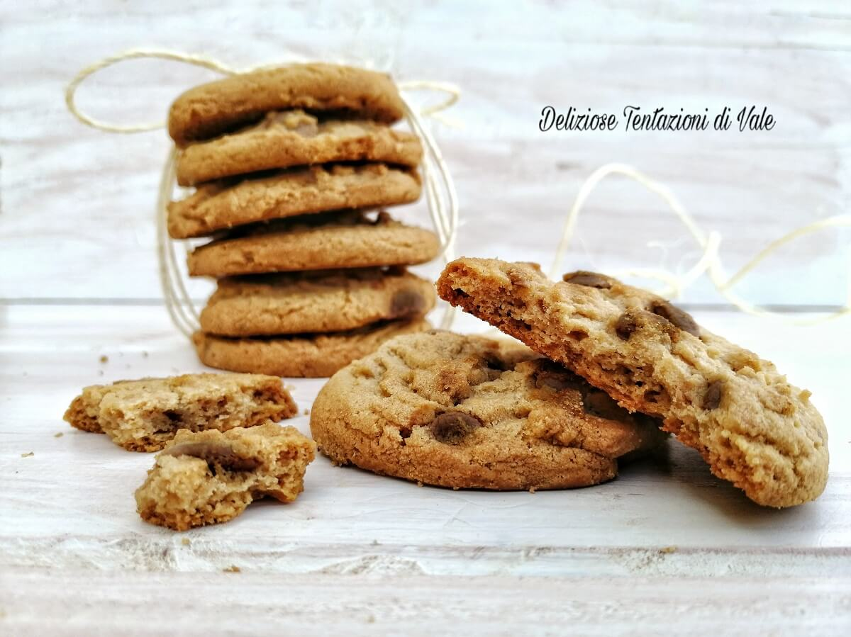 Ricetta Originale Cookies Inglesi.Cookies Americani Ricetta Originale Deliziose Tentazioni Di Vale