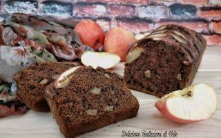 plumcake mele e cioccolato