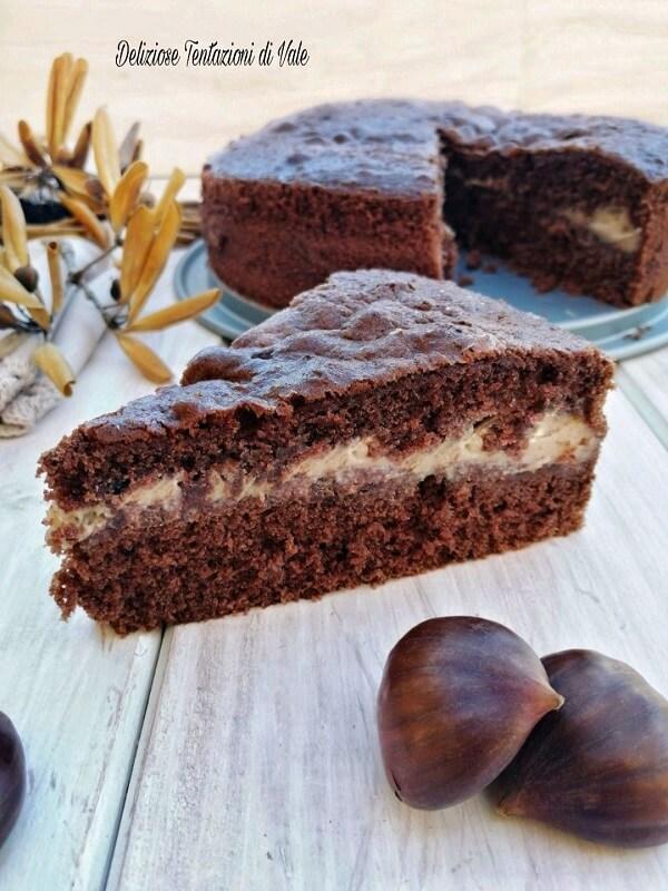 torta versata al cioccolato con crema di castagne (2)
