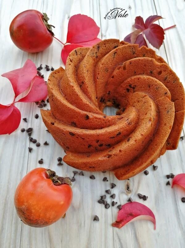 ciambella ai cachi e gocce di cioccolato (2)