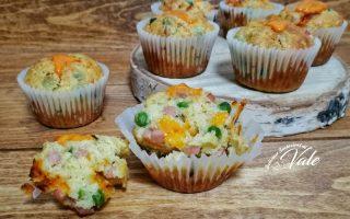 muffin prosciutto cotto e piselli