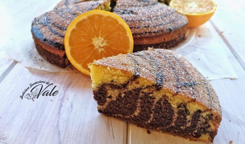 torta zebrata arance e cioccolato
