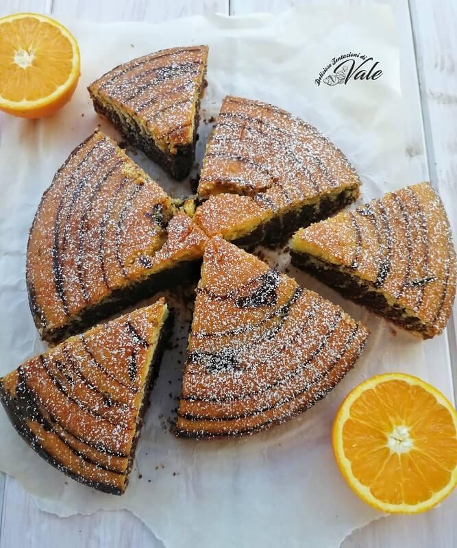 torta zebrata arance e cioccolato (2)