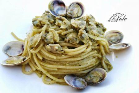spaghetti pesto e lupini