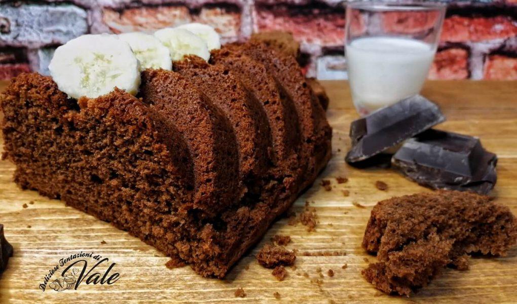 torta cioccolato fondente e banane