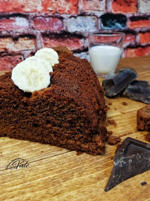 torta cioccolato fondente e banane (2)