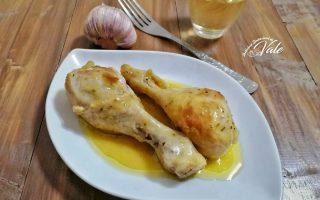 cosce di pollo al vino bianco