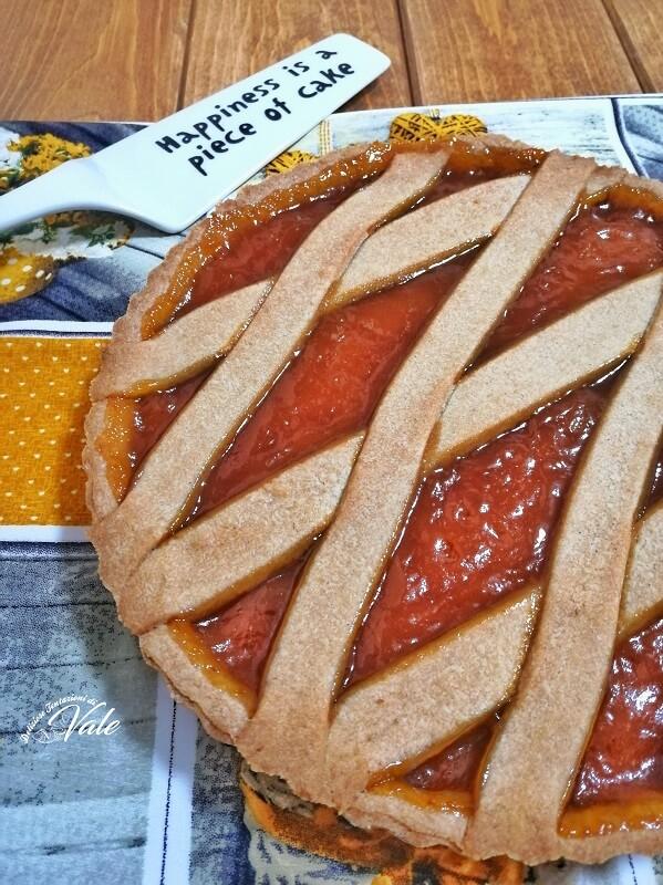crostata con frolla alla cannella e confettura di albicocche (2)