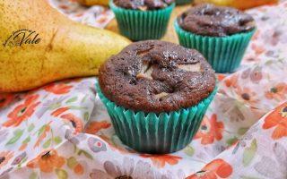 muffin pere e cioccolato