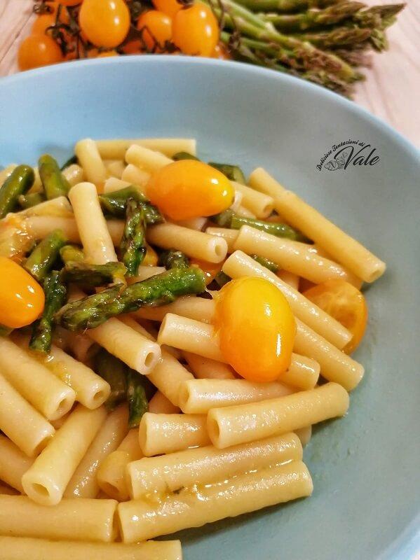 Pasta con Pomodorini Gialli e Asparagi (2)