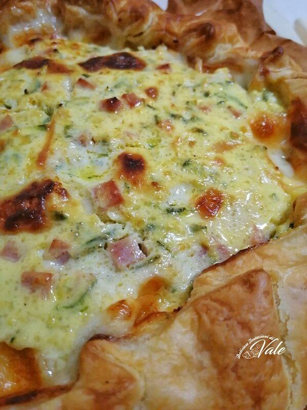 Torta Salata Zucchine, Prosciutto e Ricotta (2)