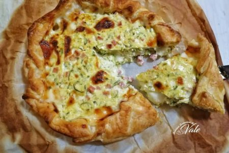 Torta Salata Zucchine, Prosciutto e Ricotta