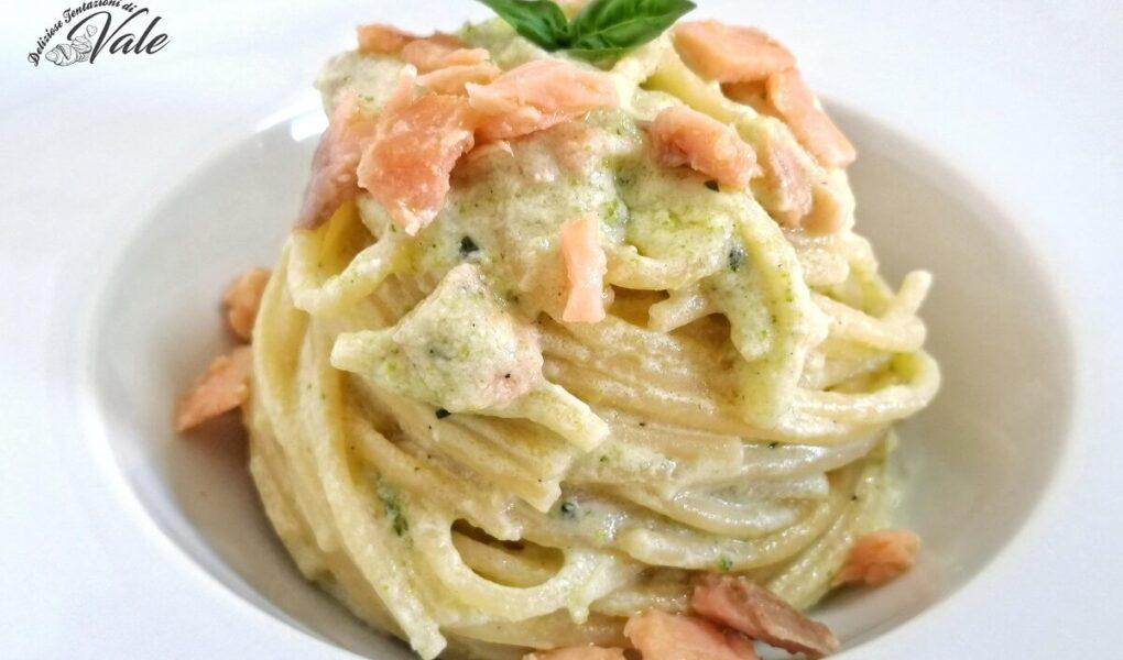 Spaghetti con Zucchine, Salmone e Ricotta