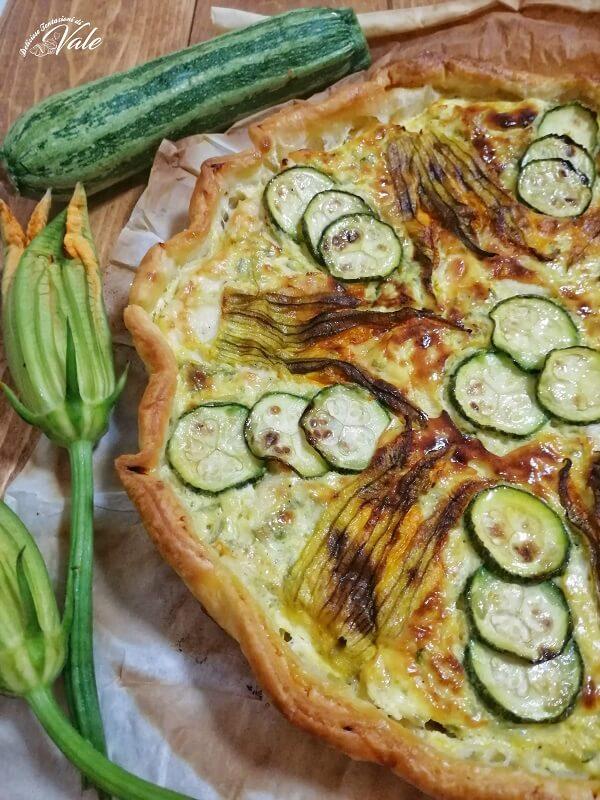 Torta Rustica Zucchine e Fiori di Zucca (2)