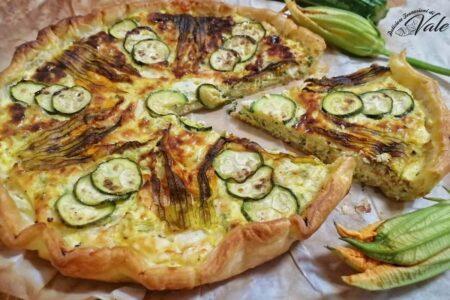 Torta Rustica Zucchine e Fiori di Zucca