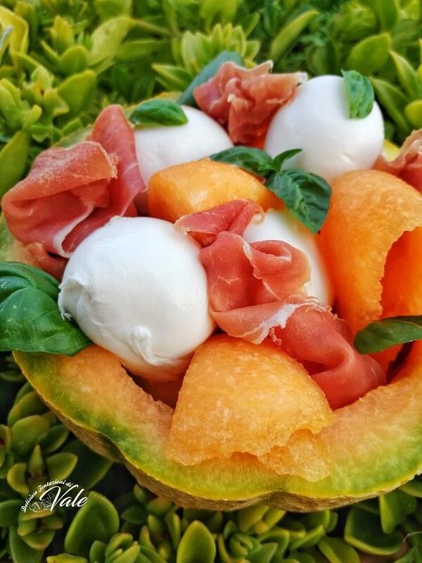 Antipasto Melone, Prosciutto e Mozzarella (2)