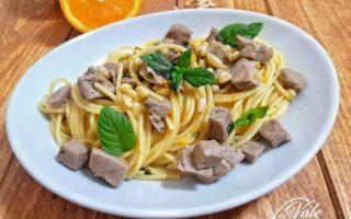 Spaghetti con Tonno Fresco Profumati all'Arancia
