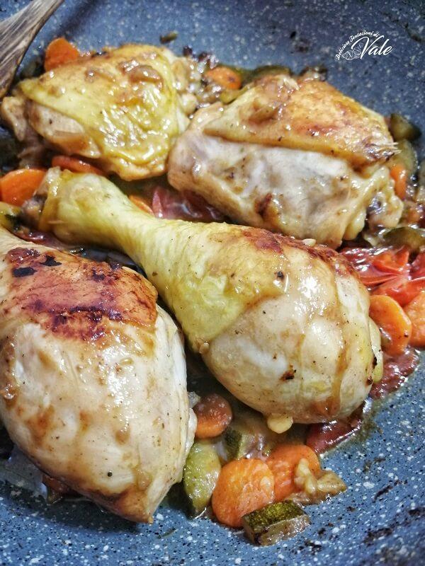 Cosce di Pollo con Verdure (2)