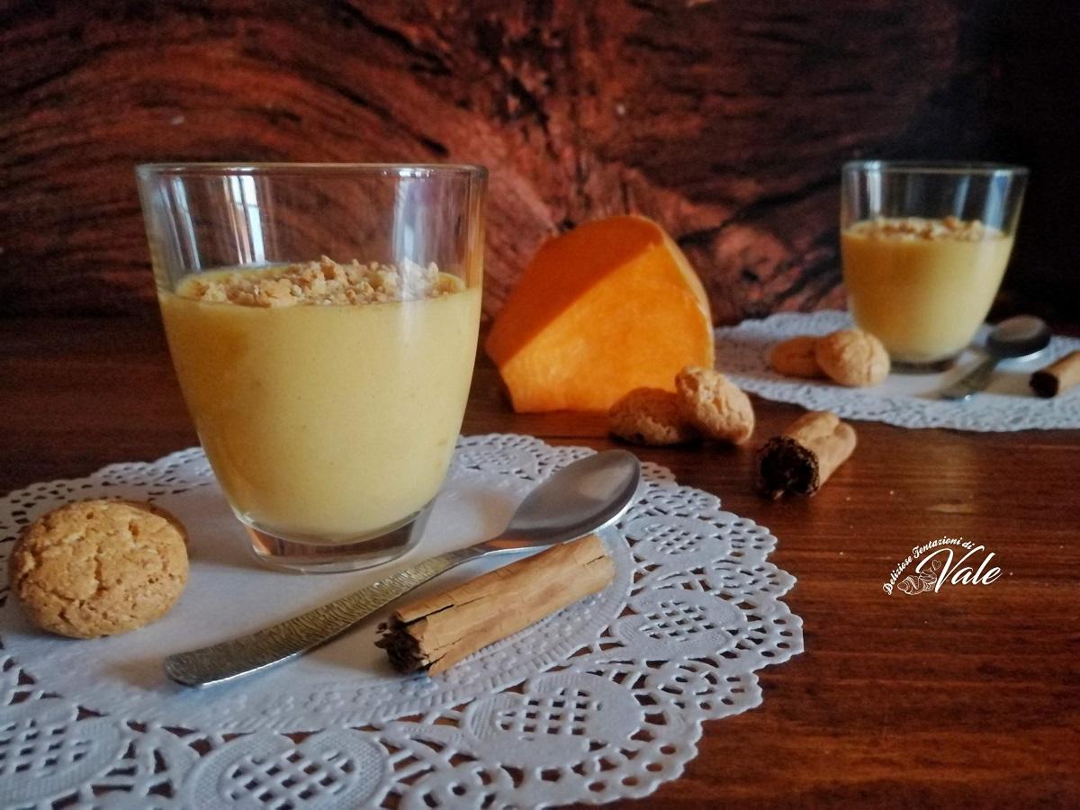 Crema Dolce alla Zucca e Amaretti