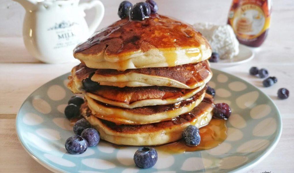 Pancakes alla Ricotta con Mirtilli