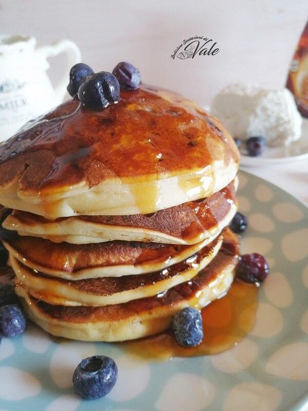 Pancakes alla Ricotta con Mirtilli (2)