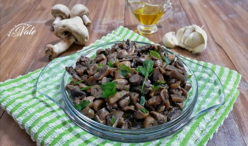 Funghi Trifolati cotti in padella