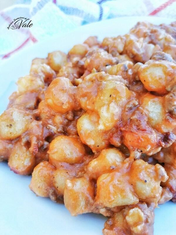 Gnocchetti di Patate al Sugo senza forno
