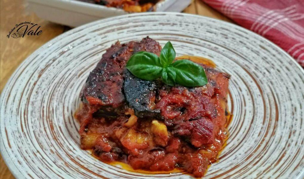 Parmigiana di Melanzane classica cotta in forno