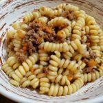 Pasta con Ragù Bianco alla Zucca senza pomodoro