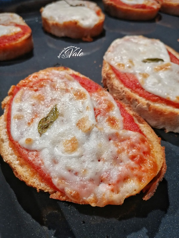 Pizzette di Pane al gusto margherita